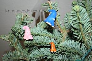 Homemade gnome clay ornaments