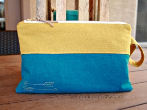Richly-colored diaper pouch