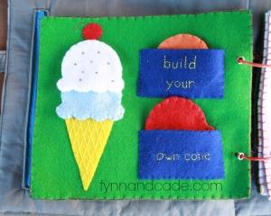 quiet book build ice cream cone