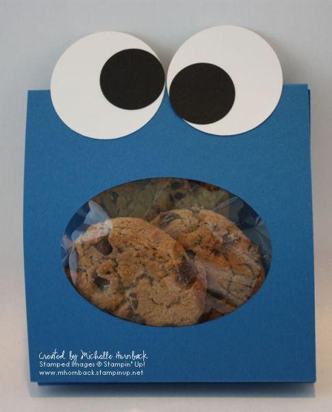 cookie monster treat bag