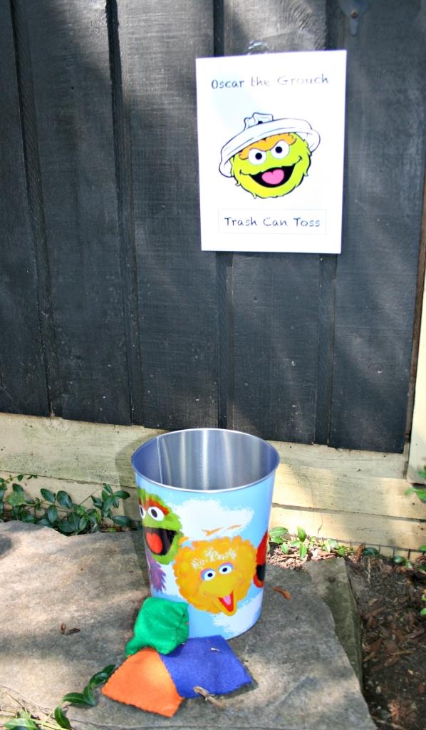 oscar the grouch bean bag toss