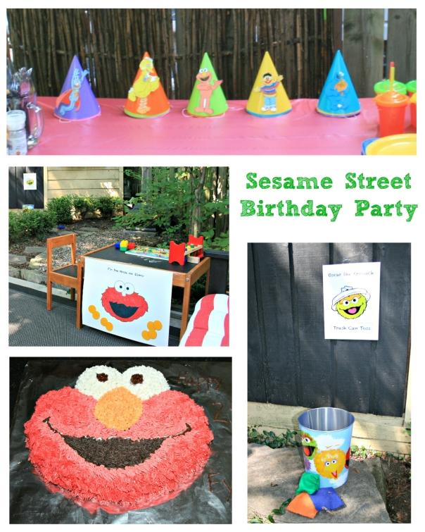 sesame street kids birthday party