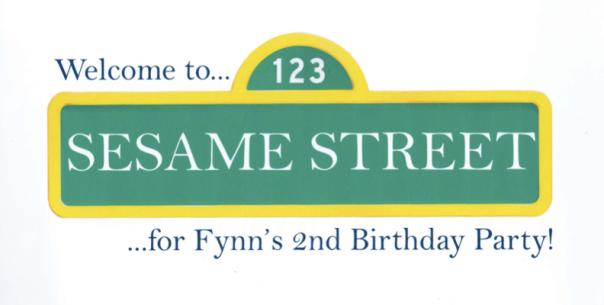 sesame street birthday party sign